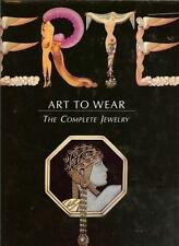 ERTE: ART TO WEAR THE COMPLETE JEWELRY 1991 WITH ART DECO LEATHER BOOKMARK MINT