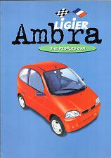 Ligier Ambra GLS 505cc Microcar c 2001-02 UK Market Foldout Sales Brochure