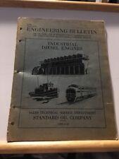 1946 ENGINEERING BULLETIN-INDUSTRIAL DIESEL ENGINES-STANDARD OIL CO Chicago DB