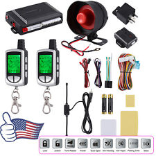 2 Way Lcd Remote Car Alarm Keyless Entry Security System Pager Shock Sensor 12V
