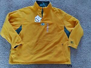 Men's 3x Green Bay Packers Reversible Jacket Pullover Fleece Coat Football NFL