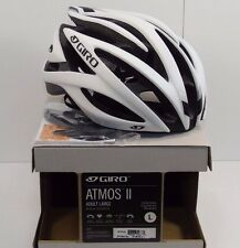 Giro Atmos II Cycling Helmet, Matte White/Black, Large (59-63cm), #7054784, New