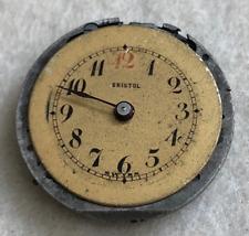 Vintage Bristol Pocket Watch Movement Small Parts/Repair Antique Swiss 15j