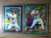 2018 Bowman Chrome Green Ref Ryan Mountcastle /99 & 2010 Giancarlo Stanton RC