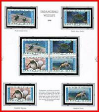 MARSHALL IS. 1990 GREEN TURTLES mnh ANIMALS, REPTILES