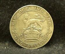 1915 Great Britain silver shilling, early George V, KM-816 (GB4)