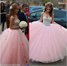 New Pink Quinceanera Dresses Ball Gown Prom Paty Wedding Dress custom Size 2-28