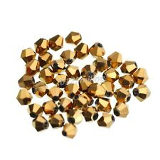 4mm Faceted Bicone Crystal Glass Beads - Choose From 15 Colours x 200pcs