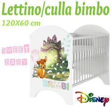LETTINO CULLA BIMBO 120X60 CM!NUOVA COLLEZIONE DISNEY2016 BAMBI