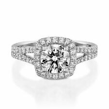 1.80 Ct Round Cut White Gold Engagement Ring 14K Solitaire Girl Wedding Ring