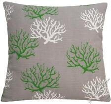 """Gray Coral Decorative Throw Pillow Cover/Cushion Cover (Gray,Green,White) 20x20"""""""