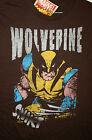 Marvel Comics Classic Wolverine Blades Brown T-Shirt New LG Mad Engine
