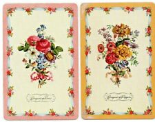 vintage flowers SWAP CARDs  SELLING MANY playing CARD PAIR