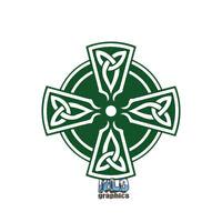 CELTIC CROSS vinyl Sticker Christian Roman Catholic Lutheran FAITH HOPE PEACE