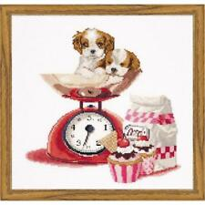 NIB Thea Gouverneur Baking Puppy's Counted Cross-Stitch Kit #741