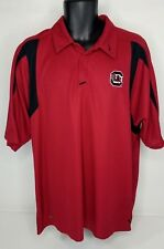 Mens Nike Team Fit Dry South Carolina Gamecocks Golf Polo Shirt Red Black XL