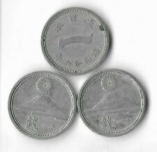 Rare Old Wwii Japan 1 Sen Yen Collectible Ww2 Mt Fuji War Coin Collection Lot H8