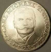 1972 Austria 25 Schillings Commem Carl Michael Ziehrer Brilliant UNC Silver Coin