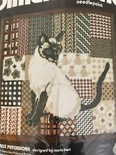 Dimensions Needlepoint Kit Siamese Patchwork Picture Pillow Wool Yarn 2009