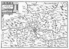 Antica mappa, carta DU PAYS Messin