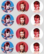 12 David Bowie Decorazione Cupcake Carta Di Riso Commestibile Topper Per Torta