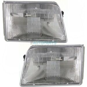 NEW LH & RH HEAD LAMP ASSEMBLY FITS 1993-1997 FORD RANGER FO2502119 FO2503115