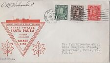 Canada Special Event Cover, 1933 Arch Issue- First Voyage Santa Paula, Victoria
