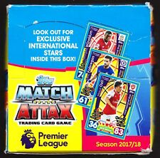 Topps Match Attax Premier League 2017-2018 Box of 50 Packets Exclusive Int Stars