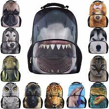 Mens Retro Animal Backpack Rucksack School College Travel Laptop Work Sport Bag