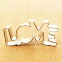 3D LOVE Cookie Cutter Cake Decoration Stainless Steel Biscuit SS