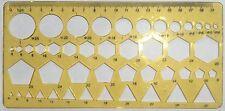 Dibujo Técnico Plantilla Plantilla círculos, triángulos, Hexagonal, pentagonal
