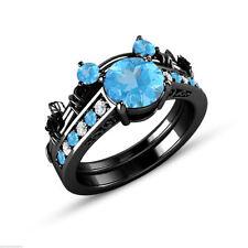 Aquamarine Engagement Fine Diamond & Gemstone Jewellery Sets