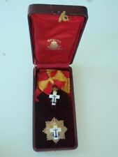 Spain Order Of Naval Merit Grand Cross Set. Silver. Cased Early Variation Rare!