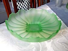 Art Deco Uranium Glass Flower Bowl