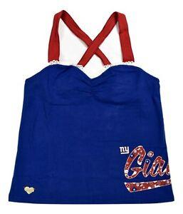 Womens NFL Reebok New York Giants Fitted Cross-Bank Tank Top Shirt NWT S-XL