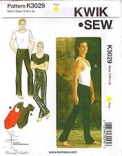 Mens Dance Wear Pants T-Shirt Leotard Kwik Sew Sewing Pattern Sz S M L XL 34-48
