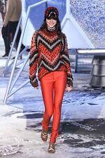 Runway H&M Studio Collection BLACK A/W 2015 Pants Leggings Futuristic Zippers 42