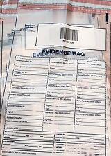 5 MOYEN Keepsafe Police Crime Scene Tamper Evident preuve Sacs 420 x 250 mm
