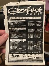 Ozzfest 2001 Performance Schedule Flyer Signed By Taproot