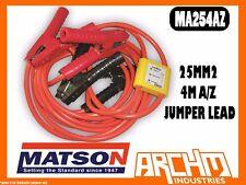 MATSON MA254AZ ANTI ZAP 25MM2 4M A/Z JUMPER LEAD - BATTERY AMP CLAMPS INSULATED