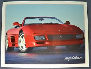 1995 Ferrari Spider Sales Brochure Sheet Excellent Original 95