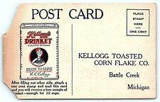 VTG Postcard Kelloggs Drinket Battle Creek Michigan MI Ad Card Advertising A3