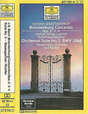 Bach Brandenburg Concertos 2, 3 & 4 Suite No.3 BWV 1068 CASSETTE ALBUM DG
