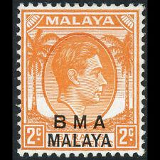 MALAYA BMA Overprints.1945-48 2c Orange Die I. SG 3 Lightly Hinged Mint. (AX317)