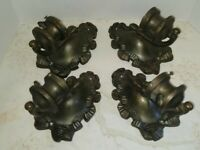 VTG Pair (2) 1 of 2 Sets Available Lace & Bow Framed Bronze Wall Sconces 1900s
