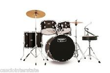 Mapex Rebel 5-Piece Drum Set Kit w/ Hardware & Cymbals Black RB5044FTCDK