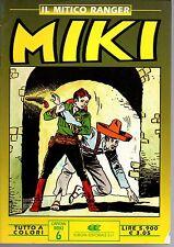 edizioni Dardo-Europa  Il mitico ranger  MIKI a colori    OTTIMO+++   n. 6