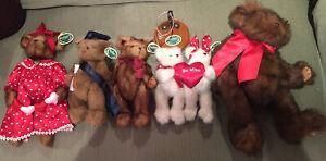 The Bearington Bear Collection. Lot of 5 Bears