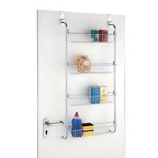 4 Tier Over Door Hanging Food Cupboard Storage Spice Rack Kitchen Bathroom