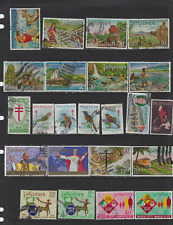 PHILIPPINES VINTAGE STAMP COLLECTION 800 USED SCRAPBOOK FLOWERS POPE BIRDS FRUIT
